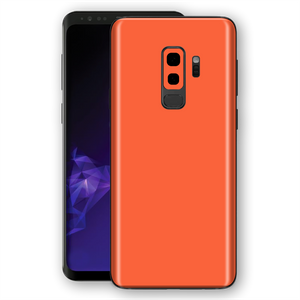 Samsung GALAXY S9+ PLUS CORAL Gloss Glossy Skin, Decal, Wrap, Protector, Cover by EasySkinz | EasySkinz.com
