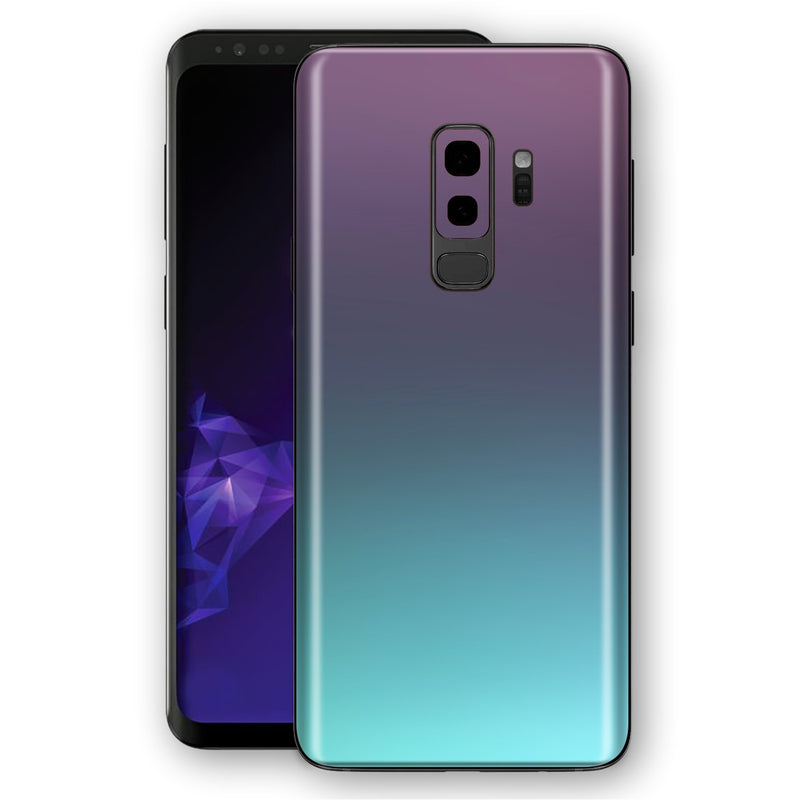 Samsung GALAXY S9+ PLUS Chameleon Turquoise Lavender Colour-Changing Skin, Decal, Wrap, Protector, Cover by EasySkinz | EasySkinz.com