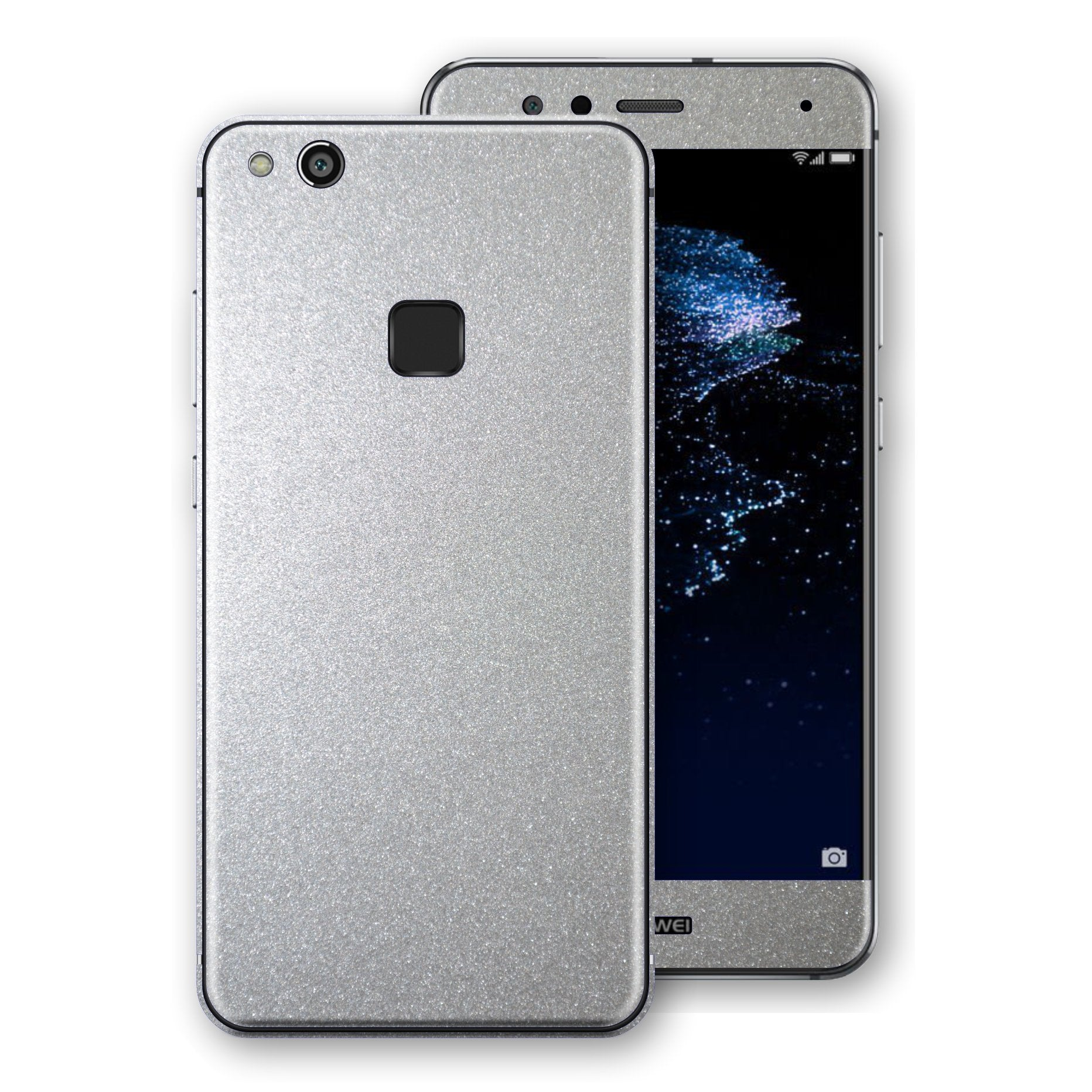 Huawei P10 LITE Silver Glossy Metallic Skin, Decal, Wrap, Protector, Cover by EasySkinz | EasySkinz.com