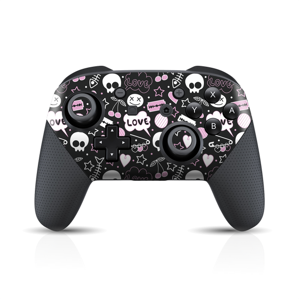 Nintendo Switch Pro Controller Print Printed Custom SIGNATURE Scary Fun STICKERS Skin Wrap Sticker Decal Cover Protector by EasySkinz