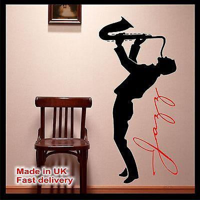 Jazz  Music Vinyl Wall Art - Wall Sticker - Wall Decal - Home Decor