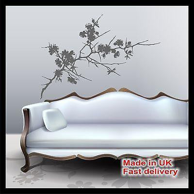 Cherry Blossom Tree Vinyl Wall Art - Wall Sticker - Wall Decal - Home Decor