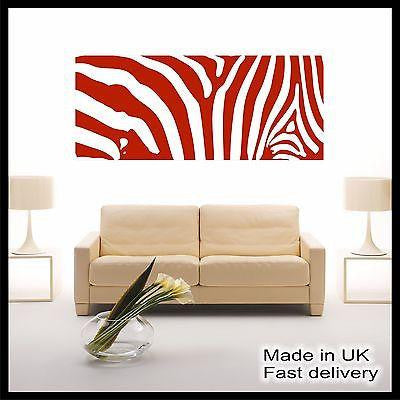 Zebra Vinyl Wall Art - Wall Sticker - Wall Decal - Home Decor