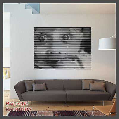 Cute Baby with Big Eyes Photo CUT Technology Vinyl Wall Sticker Decal Home Decor