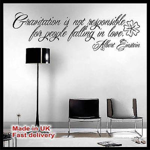 Gravitation Love Albert Einstein Quote Vinyl Wall Sticker Wall Decal Home Decor