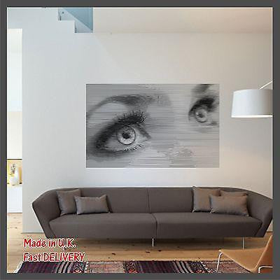 Woman Eyes Photo CUT Technology - Vinyl Wall Art - Wall Sticker Decal Decor