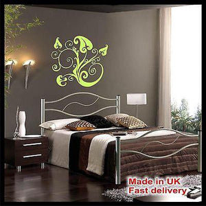 FLORAL LEAVES Abstract Vinyl Wall Art Sticker - Wall Art Decal - Home Decor