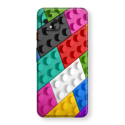 Google Pixel 4 Print Custom SIGNATURE Toy Construction Bricks Skin, Wrap, Decal, Protector, Cover by EasySkinz | EasySkinz.com