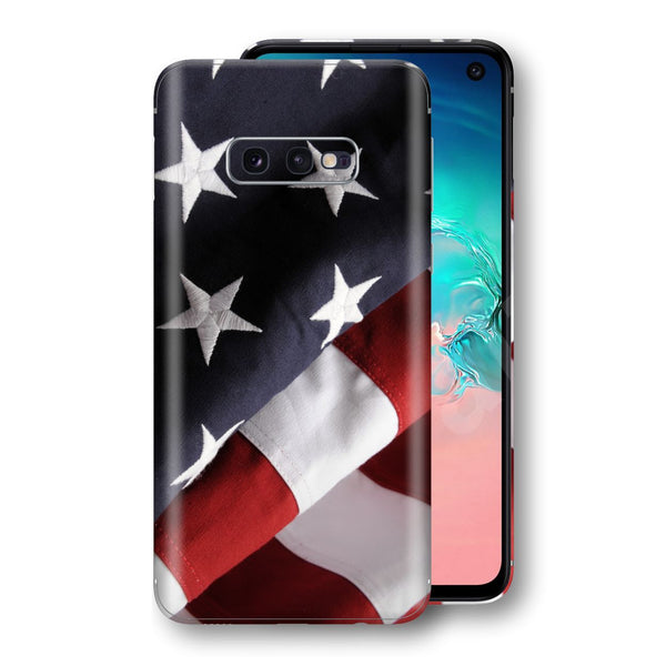 Samsung Galaxy S10e Print Custom Signature USA United States Of America Flag Skin Wrap Decal by EasySkinz - Design 2