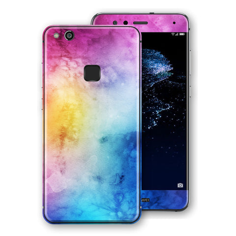 Huawei P10 LITE Signature Abstract Watercolour Purple Blue Skin Wrap Decal Protector | EasySkinz
