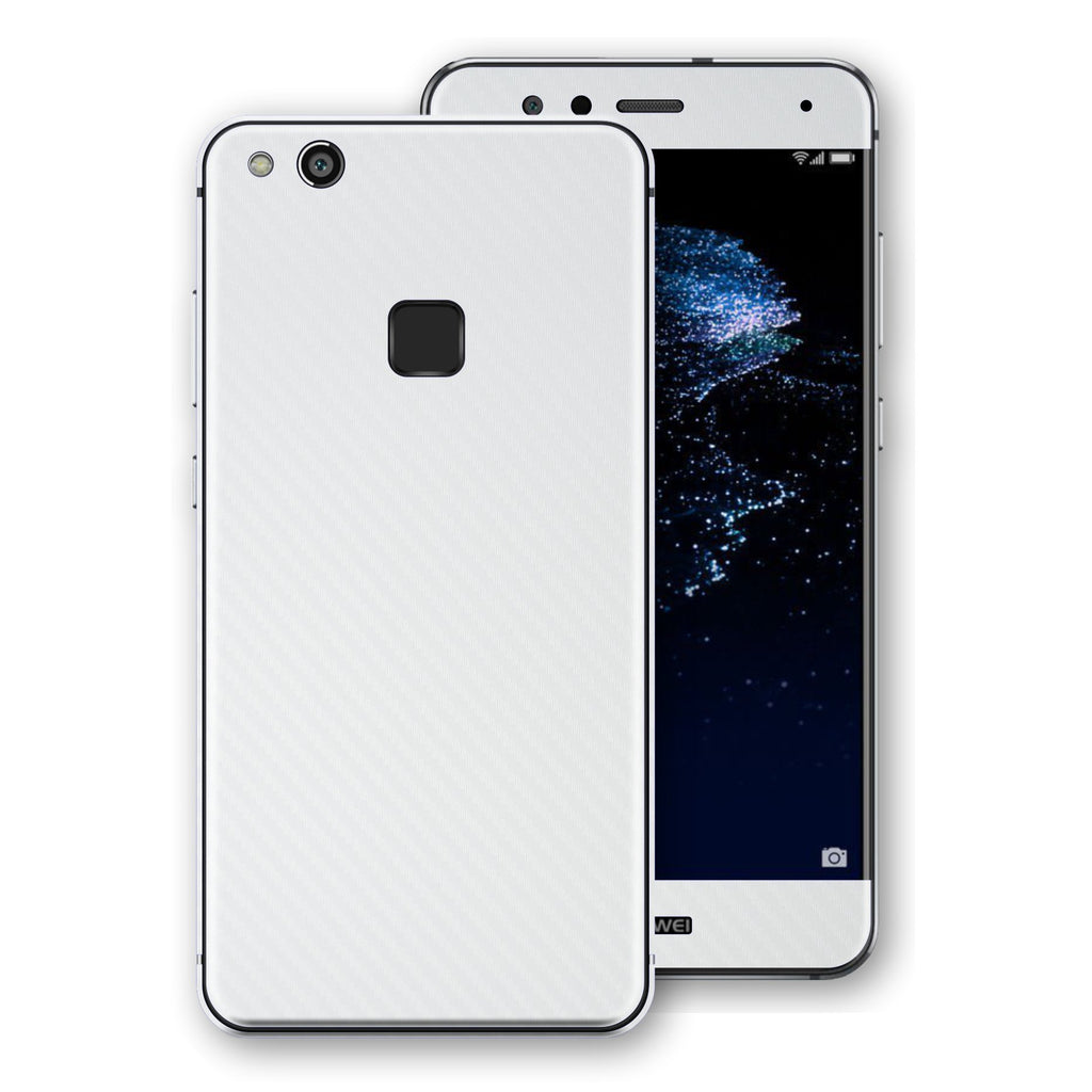 Huawei P10 LITE WHITE CARBON Fibre Skin / Wrap / Decal ...