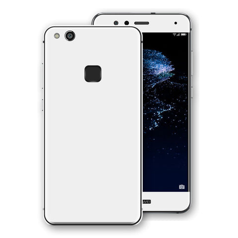 Huawei P10 LITE White Glossy Gloss Finish Skin, Decal, Wrap, Protector, Cover by EasySkinz | EasySkinz.com