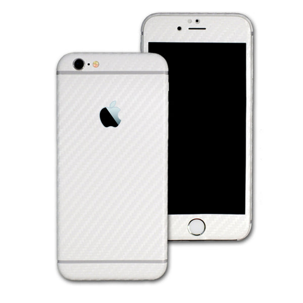 iPhone 6 White CARBON Fibre Skin Wrap Sticker Cover Decal Protector by EasySkinz