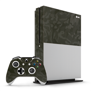 XBOX ONE S Luxuria Green 3D Textured Camo Camouflage Skin Wrap Decal Protector | EasySkinz