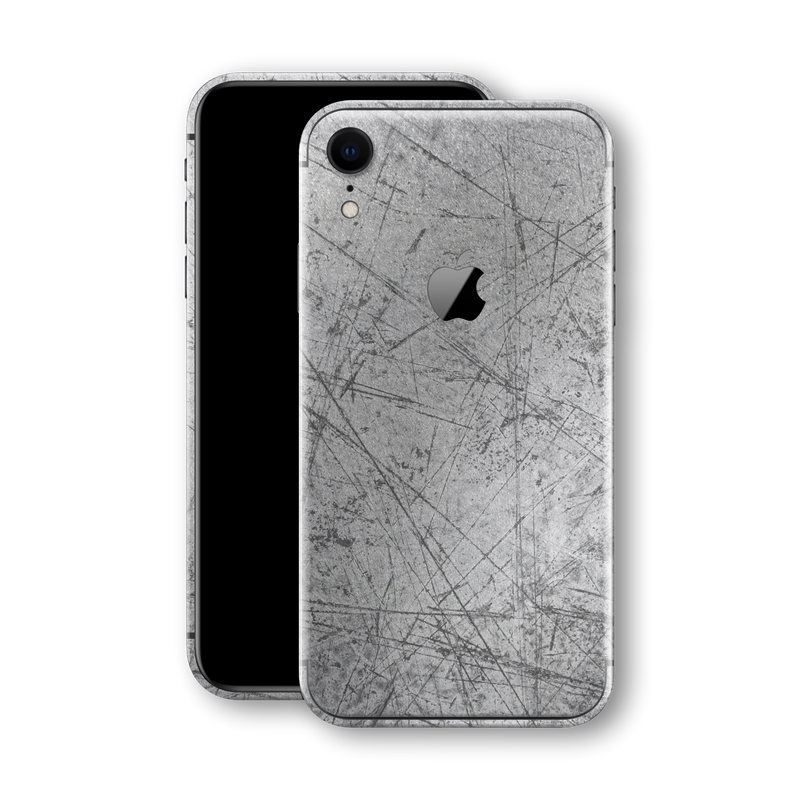 iPhone XR Print Custom Signature Aluminium Scratched Plate Skin Wrap Decal by EasySkinz