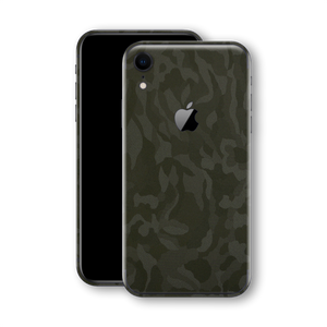 iPhone XR Luxuria Green 3D Textured Camo Camouflage Skin Wrap Decal Protector | EasySkinz