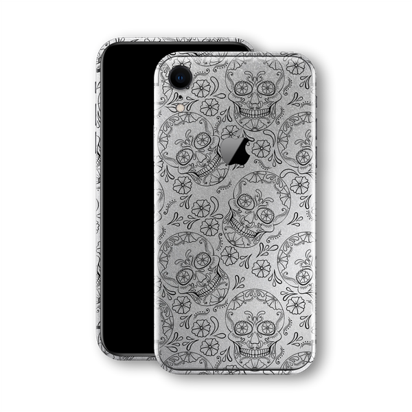 iPhone XR Print Custom Signature Calavera Sugar Skull Skin Wrap Decal by EasySkinz