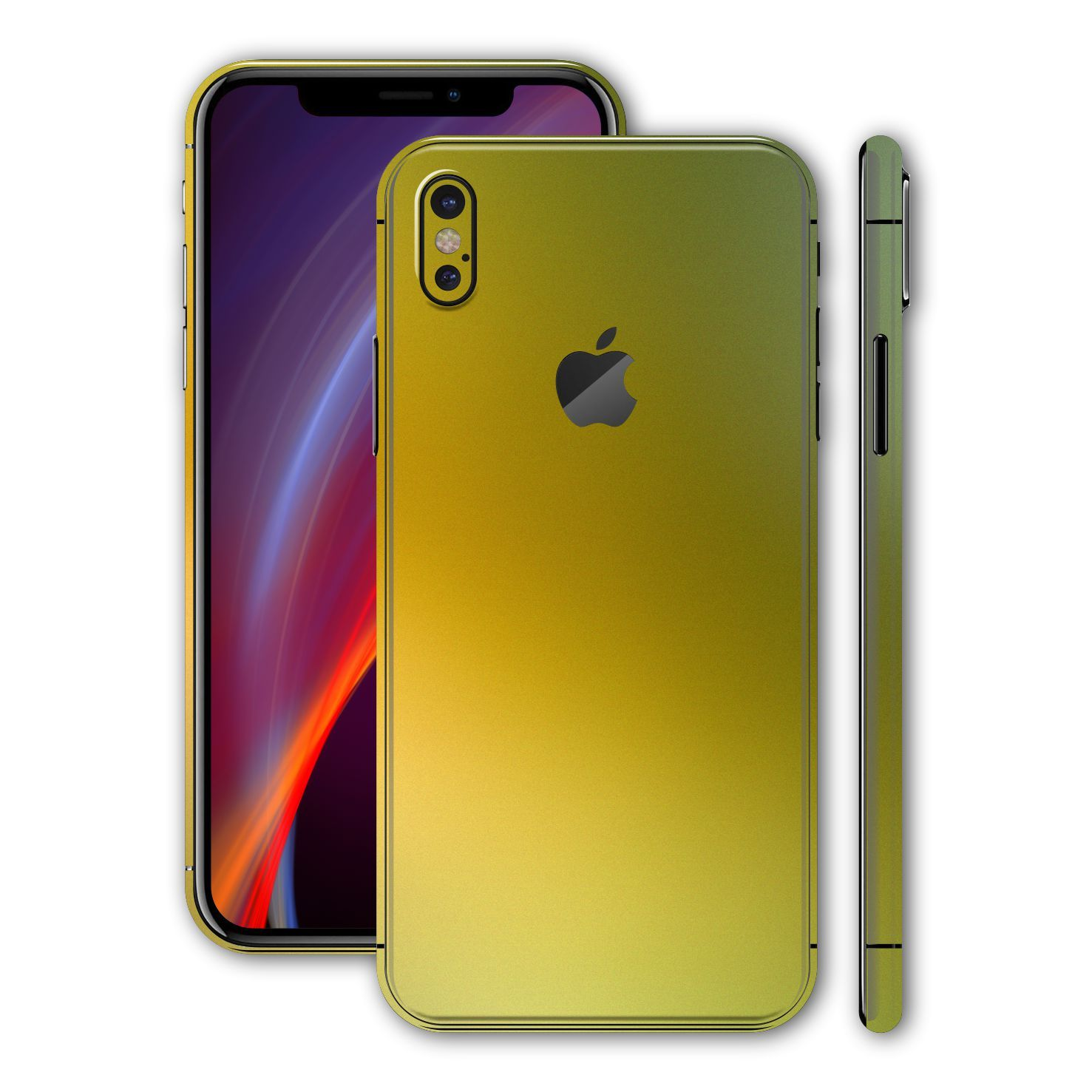 quality design 73064 1e4b1 iPhone X MATT + Brushed X GOLD Skin - X9