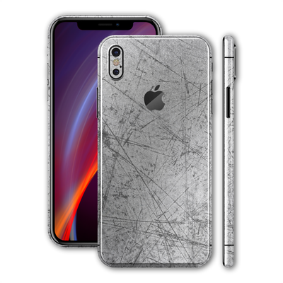 iPhone XS Print Custom Signature Aluminium Scratched Plate Skin Wrap Decal by EasySkinz