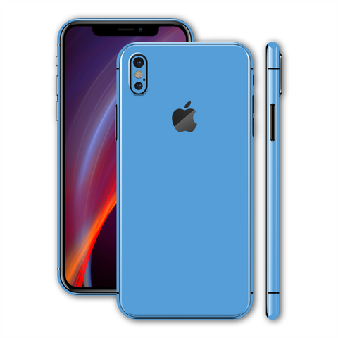 iPhone XS SKY BLUE Gloss Glossy Skin, Wrap, Decal, Protector, Cover by EasySkinz | EasySkinz.com