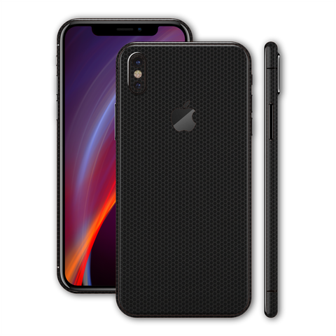 iPhone XS MAX Black Matrix Textured Skin Wrap Decal 3M by EasySkinz