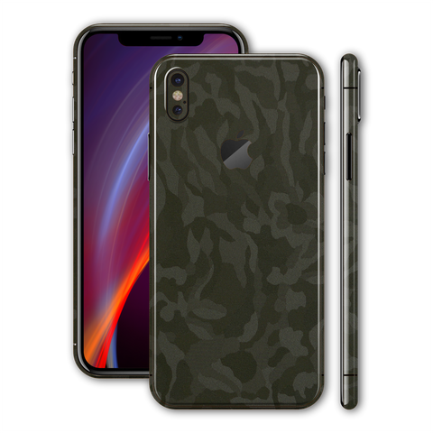 iPhone XS MAX Luxuria Green 3D Textured Camo Camouflage Skin Wrap Decal Protector | EasySkinz