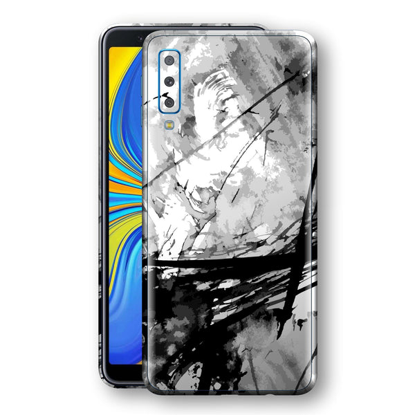 Samsung Galaxy A7 (2018) Print Custom Signature Abstract Black & White 2 Skin Wrap Decal by EasySkinz - Design 2