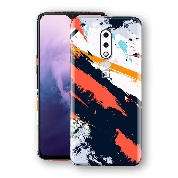 OnePlus 7 Print Custom Signature Abstract Paitning 4 Skin Wrap Decal by EasySkinz - Design 4
