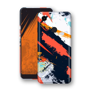 Google Pixel 3a Print Custom Signature Abstract Paitning 4 Skin Wrap Decal by EasySkinz - Design 4