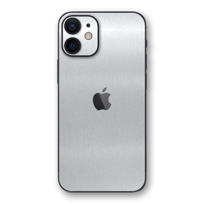 iPhone 12 Brushed Metal Aluminium Metallic Skin, Wrap, Decal, Protector, Cover by EasySkinz | EasySkinz.com