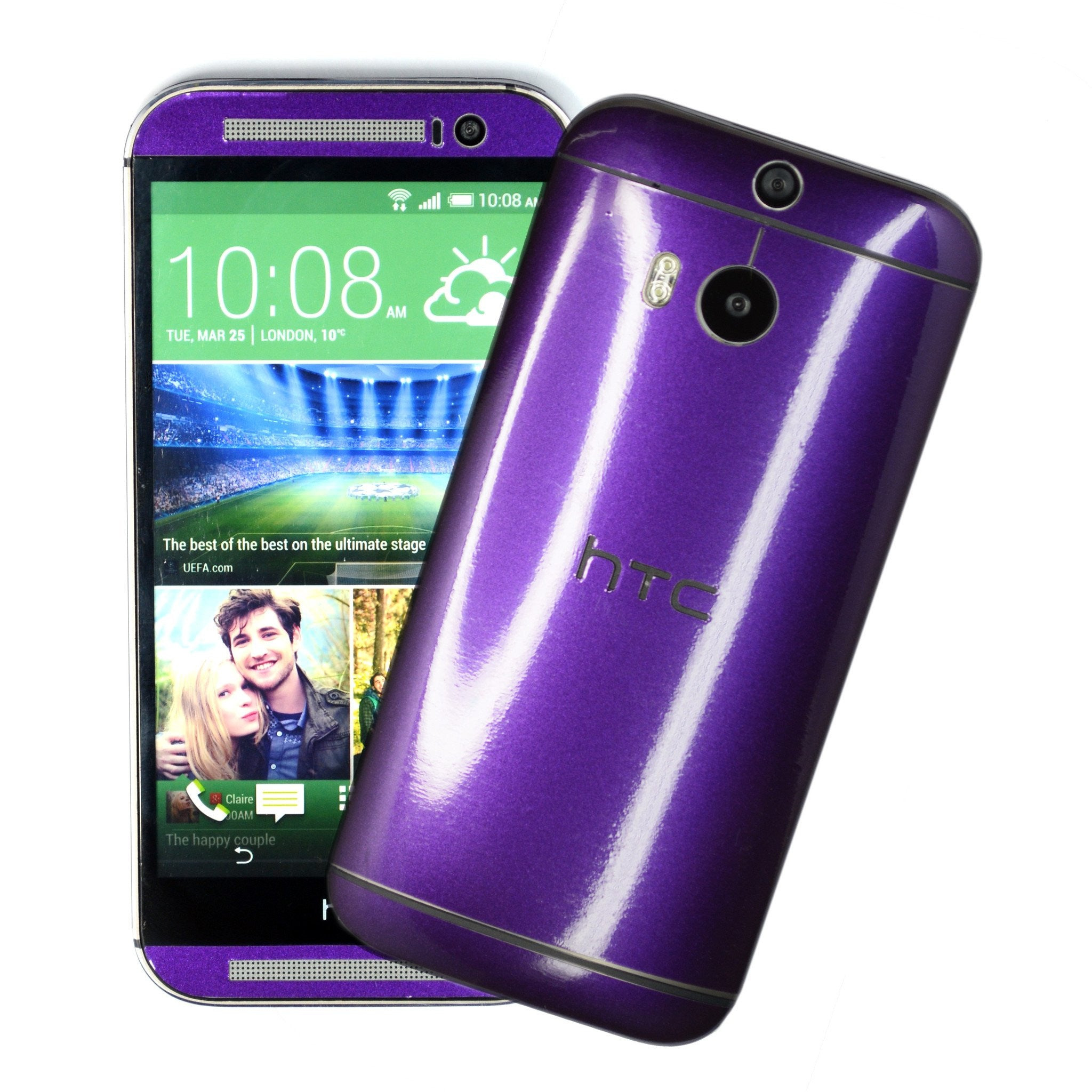 HTC One M8 purple blue chameleon skin
