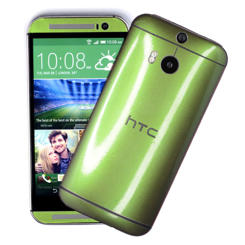 HTC One M8 purple green chameleon skin