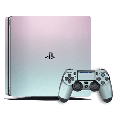 Playstation 4 SLIM PS4 Slim Chameleon Amethyst Matt Metallic Skin Wrap Decal by EasySkinz