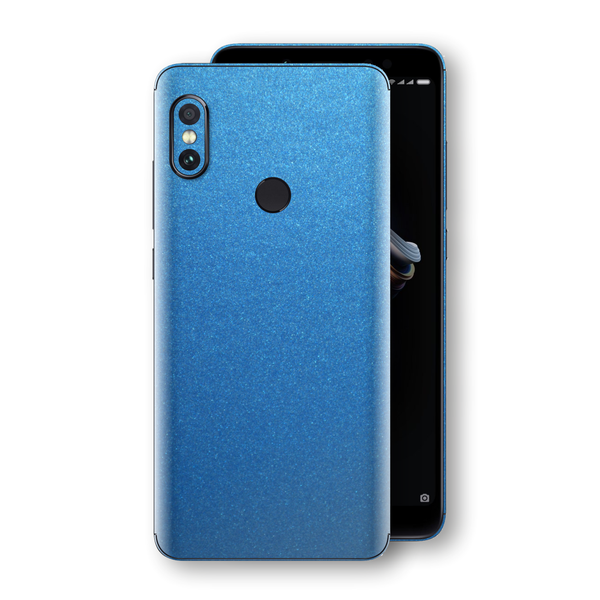 XIAOMI Redmi NOTE 5 Azure Blue Glossy Metallic Skin, Decal, Wrap, Protector, Cover by EasySkinz | EasySkinz.com
