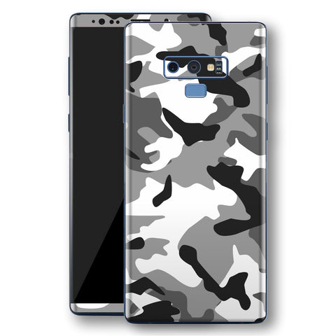 Samsung Galaxy NOTE 9 Print Custom Signature Grey Camouflage Camo Skin Wrap Decal by EasySkinz
