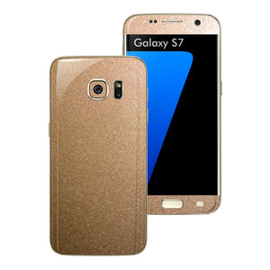 Samsung Galaxy S7 Glossy Bronze Antique Metallic Skin Wrap Decal Sticker Cover Protector by EasySkinz