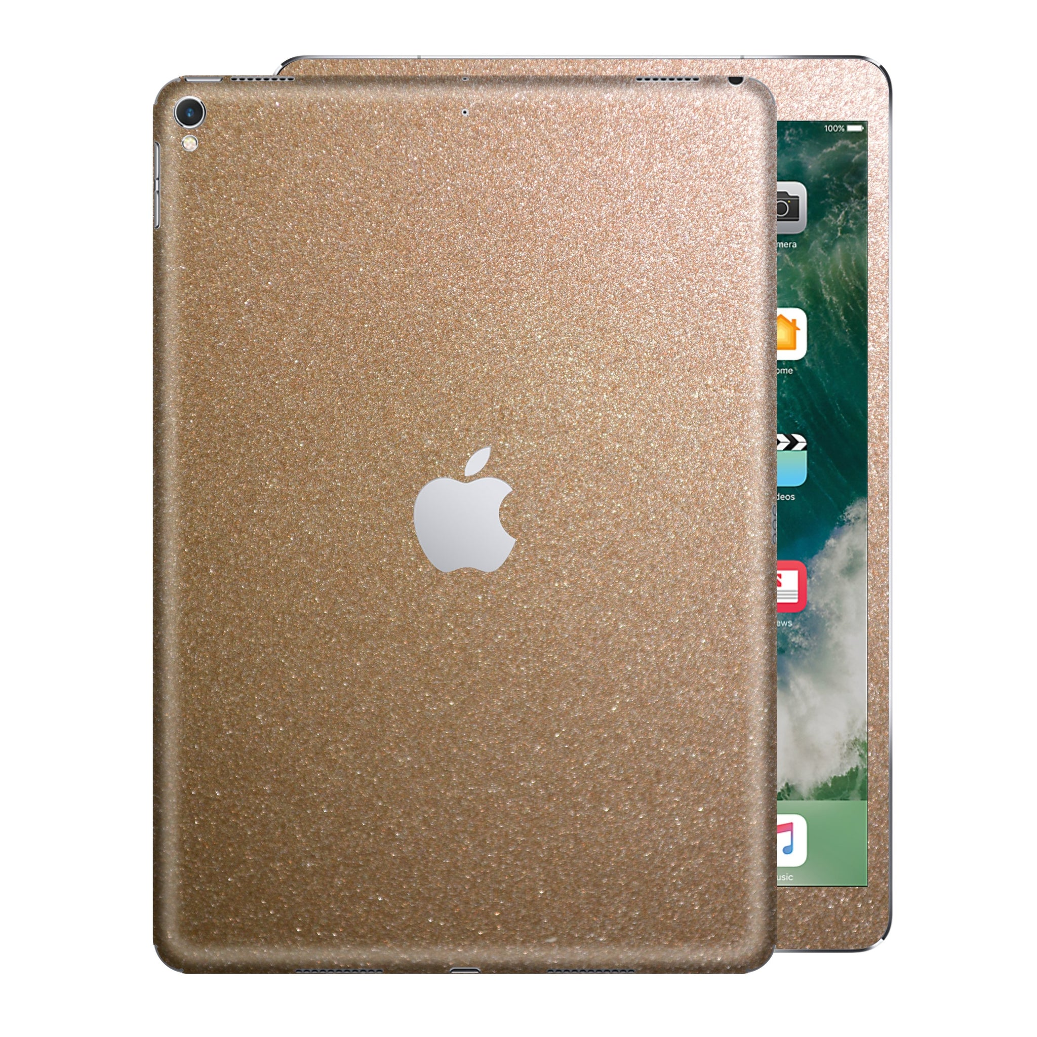 iPad PRO 10.5 inch 2017 Glossy Bronze Antique Metallic Skin Wrap Sticker Decal Cover Protector by EasySkinz