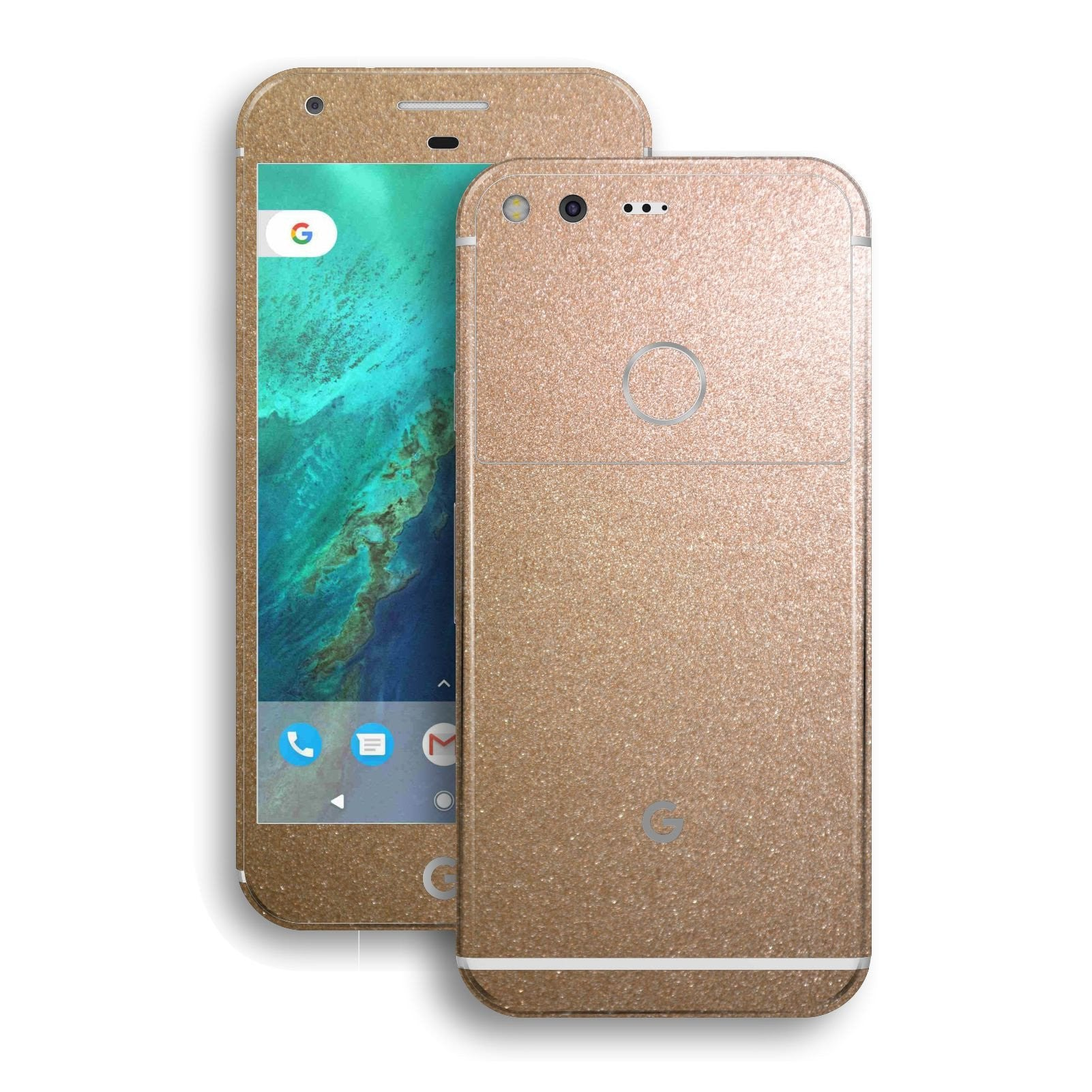 Google Pixel XL Glossy Antique Bronze Metallic Skin Wrap Decal by EasySkinz