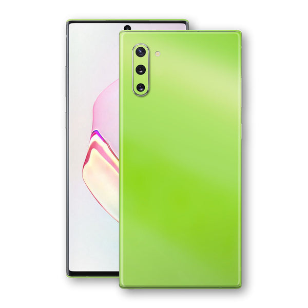 Samsung Galaxy NOTE 10 Apple Green Pearl Gloss Finish Skin Wrap Decal Cover by EasySkinz
