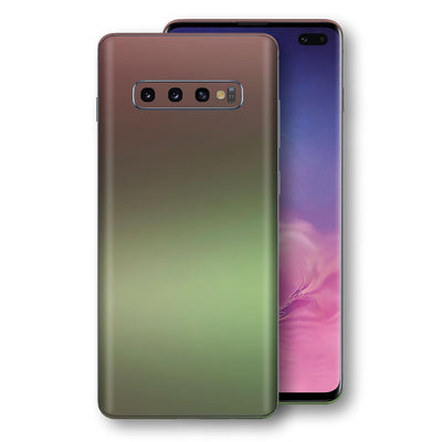 Samsung Galaxy S10+ PLUS Chameleon Avocado Skin Wrap Decal Cover by EasySkinz