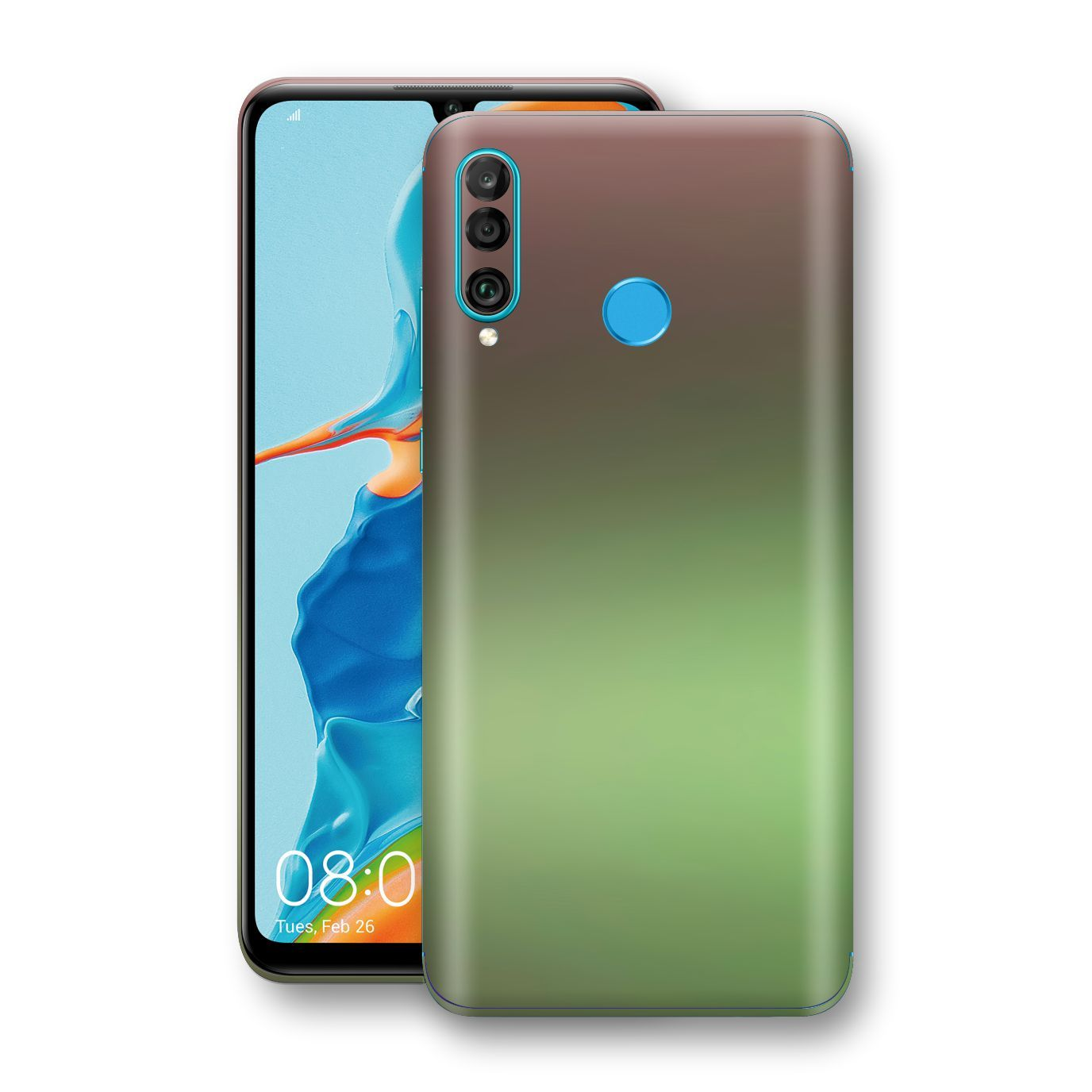 Huawei P30 LITE Chameleon Avocado Skin Wrap Decal Cover by EasySkinz