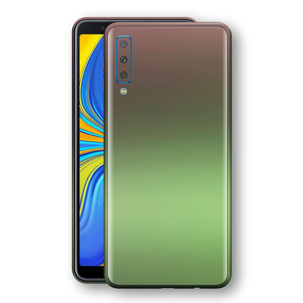 Samsung Galaxy A7 (2018) Chameleon Avocado Skin Wrap Decal Cover by EasySkinz