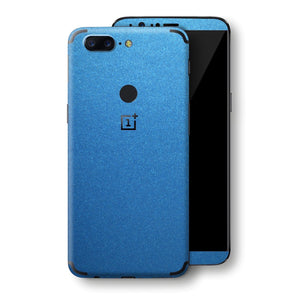 OnePlus 5T Azure Blue Matt Metallic Skin, Decal, Wrap, Protector, Cover by EasySkinz | EasySkinz.com