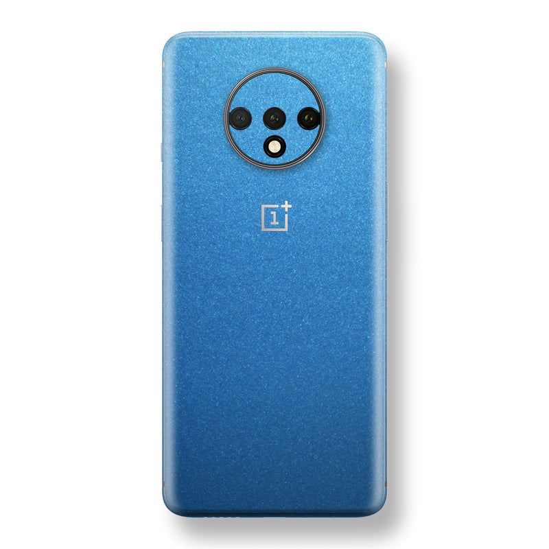OnePlus 7T Azure Blue Matt Metallic Skin, Decal, Wrap, Protector, Cover by EasySkinz | EasySkinz.com