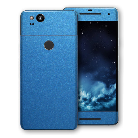 Google Pixel 2 XL Azure Blue Glossy Metallic Skin, Decal, Wrap, Protector, Cover by EasySkinz | EasySkinz.com
