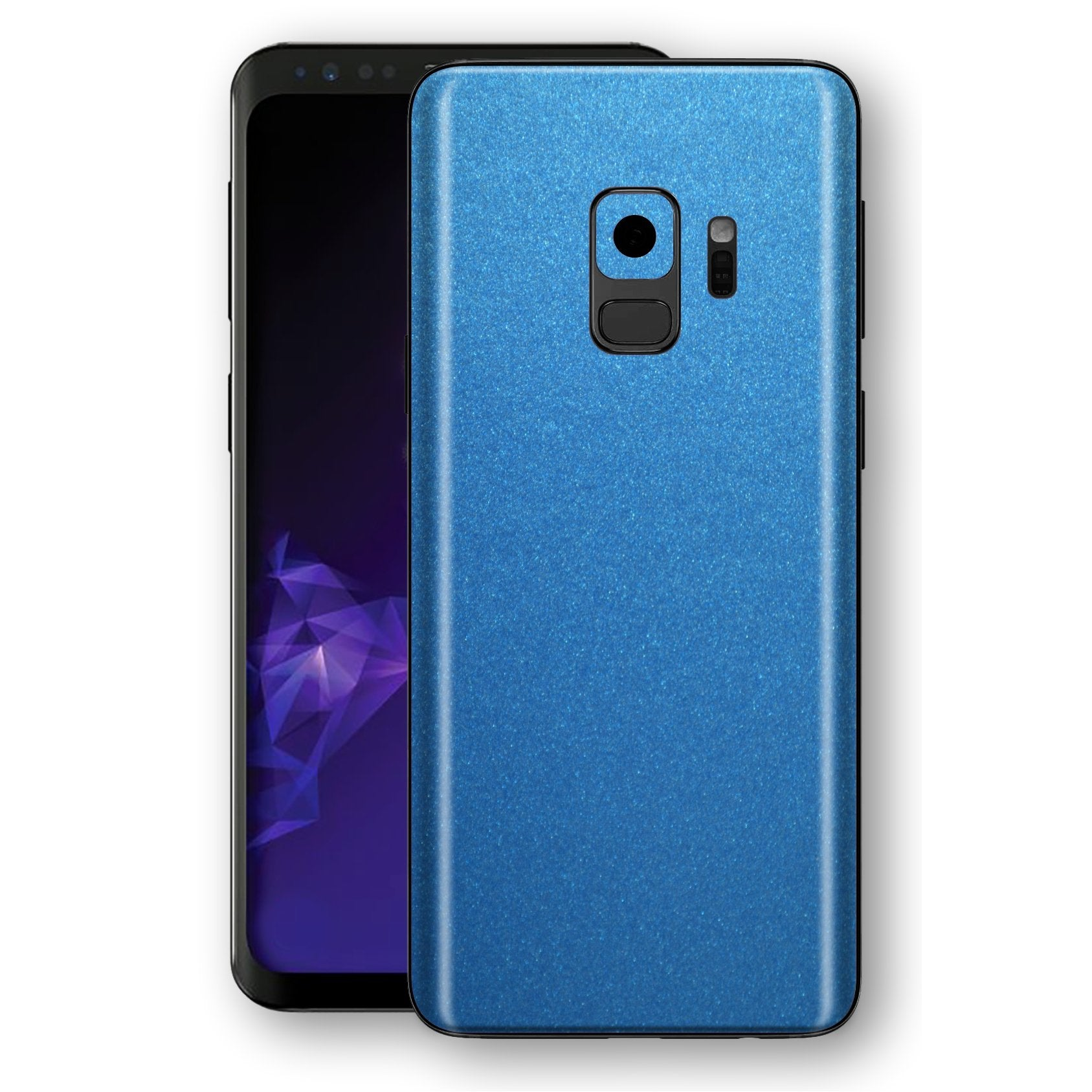 Samsung GALAXY S9 Azure Blue Matt Metallic Skin, Decal, Wrap, Protector, Cover by EasySkinz | EasySkinz.com