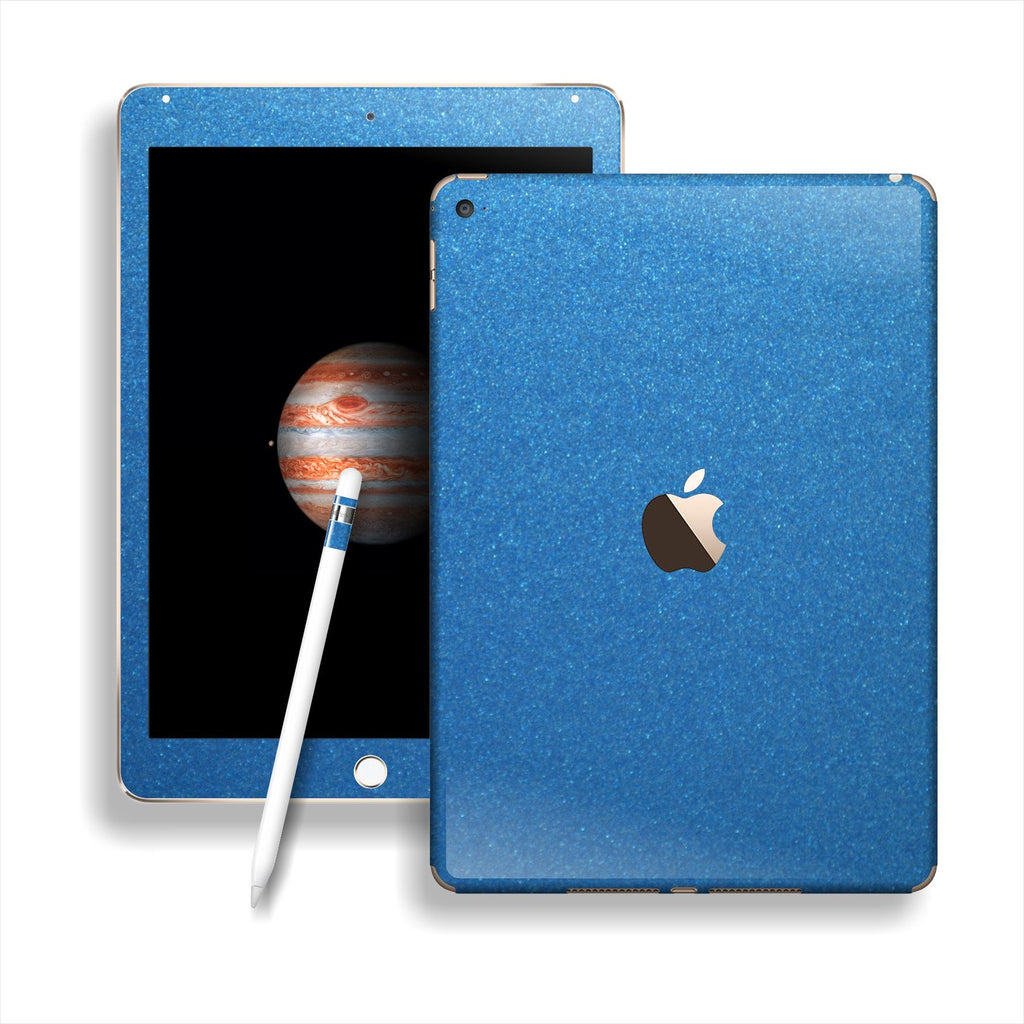 iPad PRO Matt Matte Azure Blue Metallic Skin Wrap Sticker Decal Cover Protector by EasySkinz