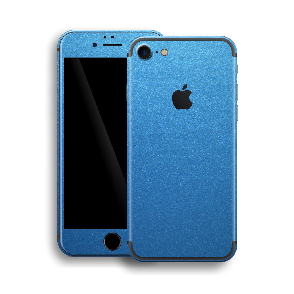 iPhone 7 Azure Blue Matt Matte Metallic Skin, Wrap, Decal, Protector, Cover by EasySkinz | EasySkinz.com