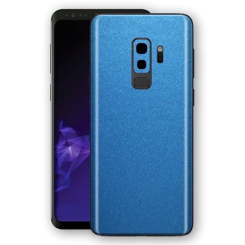 Samsung GALAXY S9+ PLUS Azure Blue Glossy Metallic Skin, Decal, Wrap, Protector, Cover by EasySkinz | EasySkinz.com