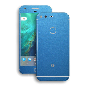 Google Pixel XL Matt Azure Blue Metallic Skin by EasySkinz